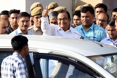 New Delhi: Former Finance Minister P. Chidambaram at the Rouse Avenue court complex in New Delhi on Aug 26, 2019. The court on Monday extended the CBI remand of the Congress leader in the INX media case till August 30. (Photo: IANS)