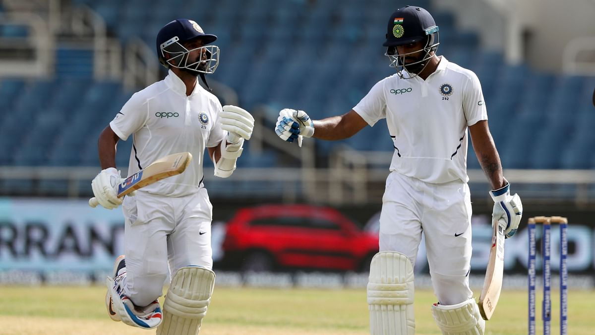 2nd Test: Rahane, Vihari Lead Recovery, WI 45/2 While Chasing 468
