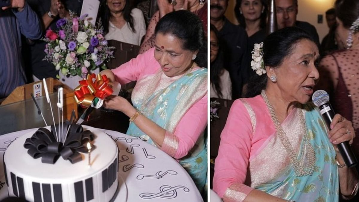 Asha Bhosle Rings in Her 86th Birthday at Her Dubai Restaurant