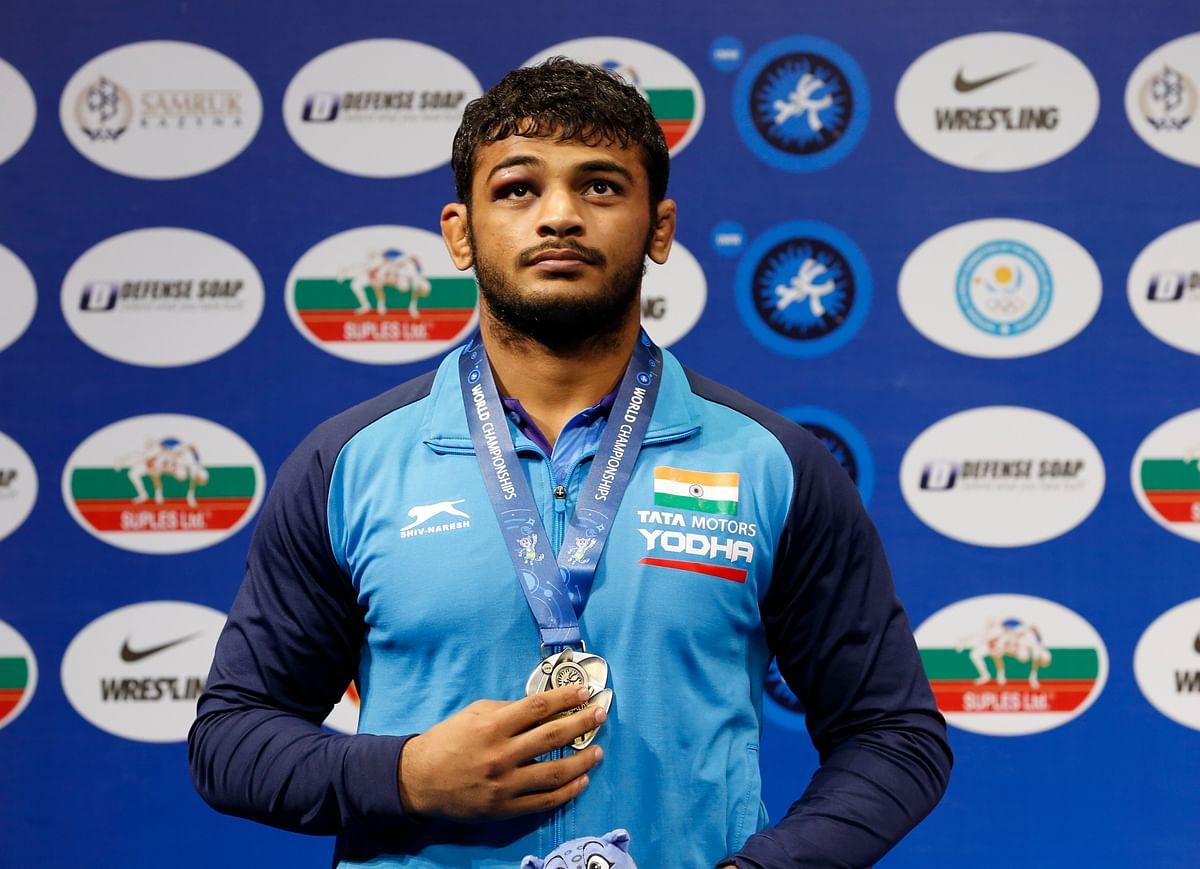 World Championship silver medallist wrestler Deepak Punia has jumped to world number one position in 86kg.