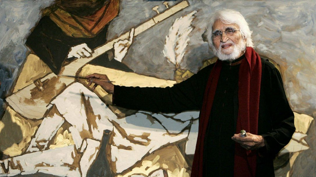 Image of late painter MF Hussain used for representational purposes.