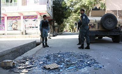 Explosion near government offices rocks Kabul. (Xinhua/Rahmat Alizadah/IANS)