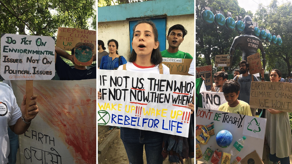 Azaadi From Pollution: Delhi Joins  Strike Against Climate Crisis