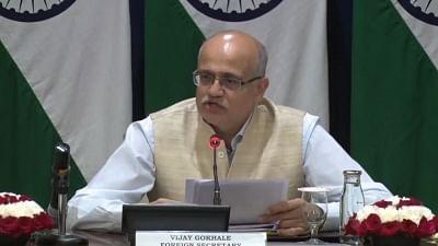 New Delhi: Foreign Secretary Vijay Gokhale briefs the media on Prime Minister Narendra Modi