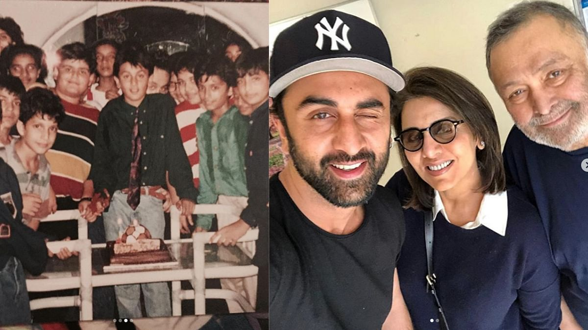 Ranbir Kapoor turns a year older and his mother Neetu Kapoor shares some throwback pictures.