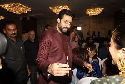 Mumbai: Actor Abhishek Bachchan at the launch of musicians Amaan Ali Bangash, Ayaan Ali Bangash and Karsh Kale