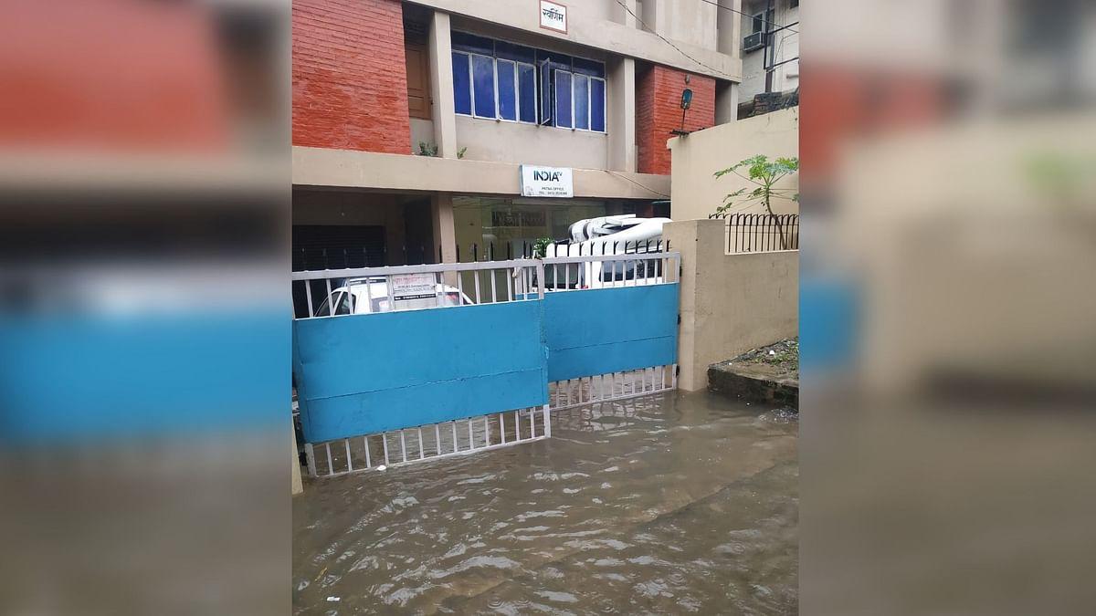 A waterlogged building in Bihar's Patna.