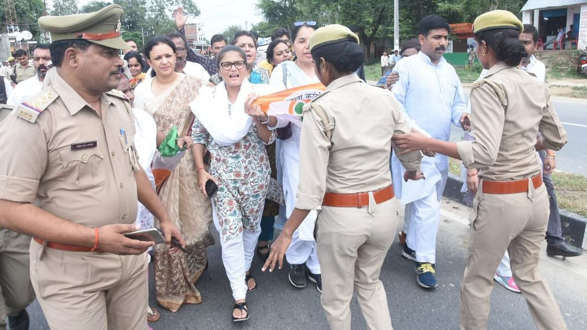 Cong Leaders Detained in UP Ahead of Yatra to Support Law Student