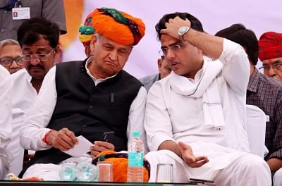 Rajasthan Chief Minister Ashok Gehlot and Deputy Chief Minister Sachin Pilot.