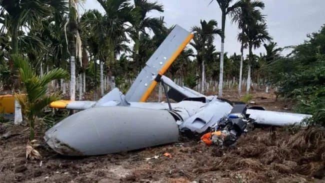 DRDO's Rustom 2 Drone Crashes During Test Flight in Karnataka