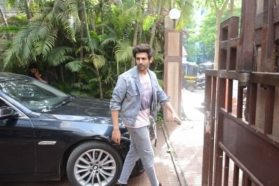 Mumbai: Actor Kartik Aaryan seen in Mumbai on June 19, 2019. (Photo: IANS)