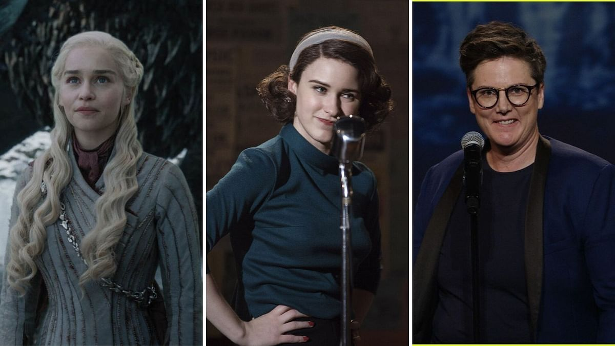 Stills from <i>Game of Thrones</i>, <i>The Marvelous Mrs Maisel</i> and <i>Nanette</i>.