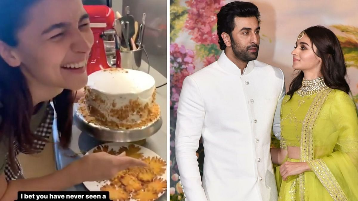 Alia Bhatt turns chef on Ranbir Kapoor's birthday.