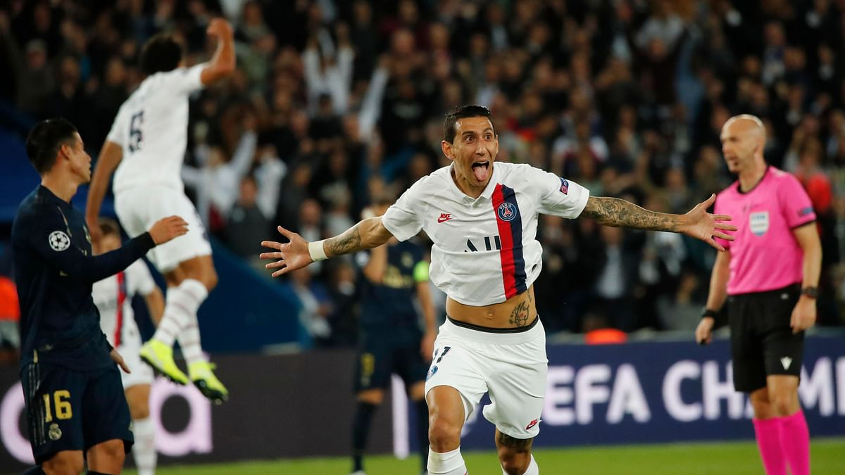 Di Maria Scores Two as PSG Beats Madrid in Champions League