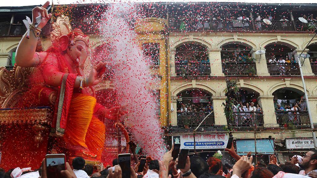 In Photos: Ganesh Visarjan Celebrations Across India