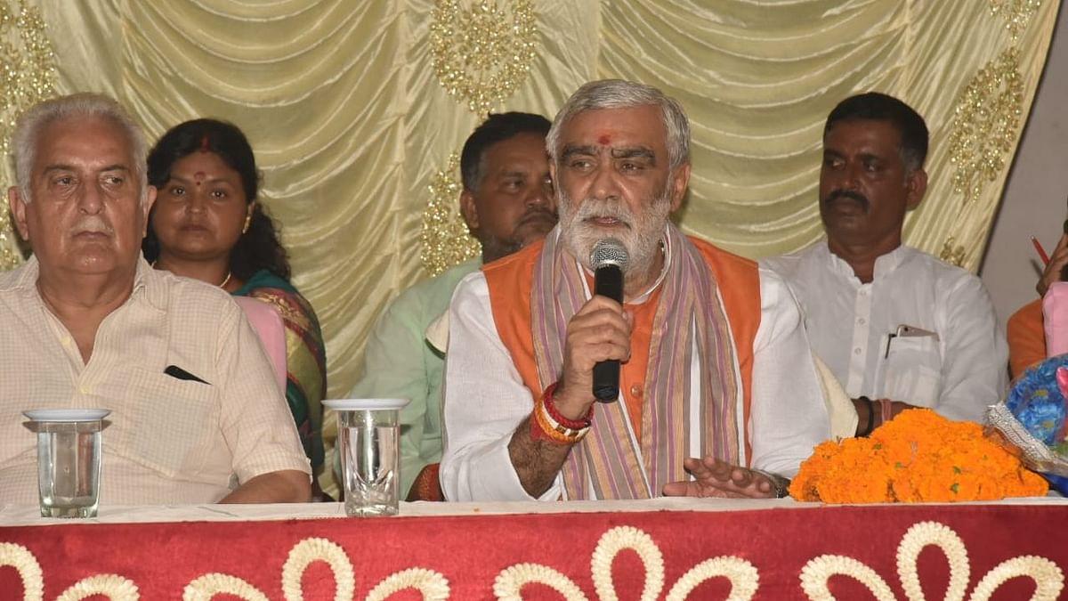 Union Minister Ashwini Choubey (on mic).