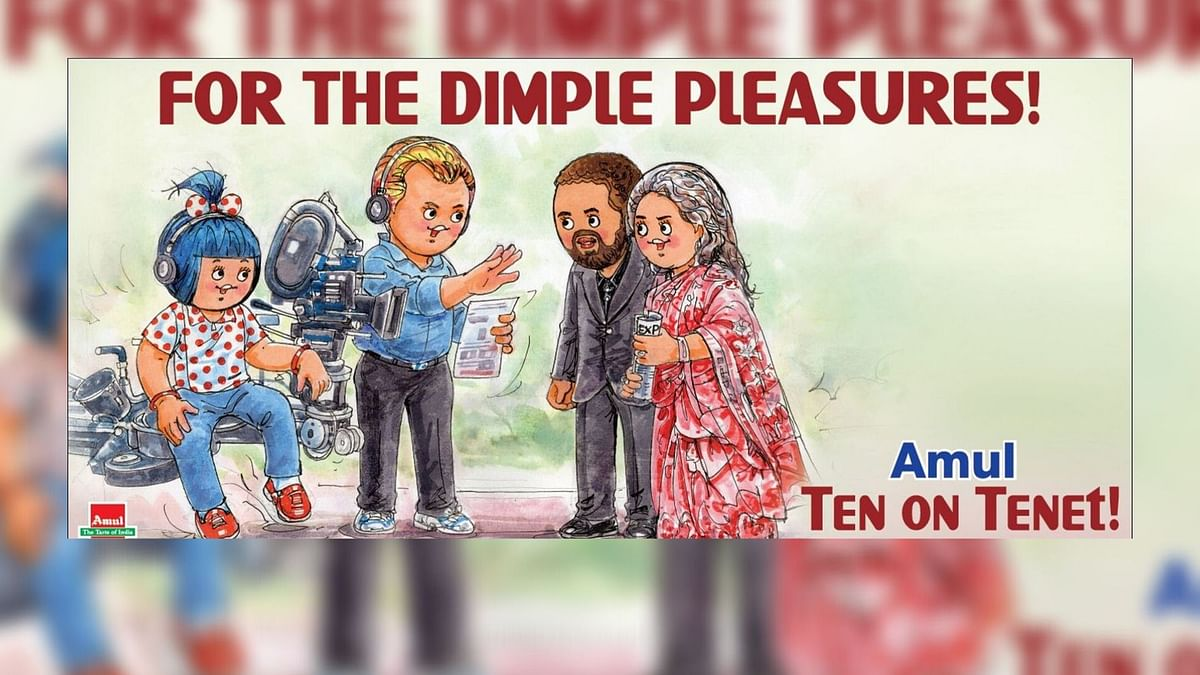 Amul has come up with an ad on Christopher Nolan shooting in Mumbai