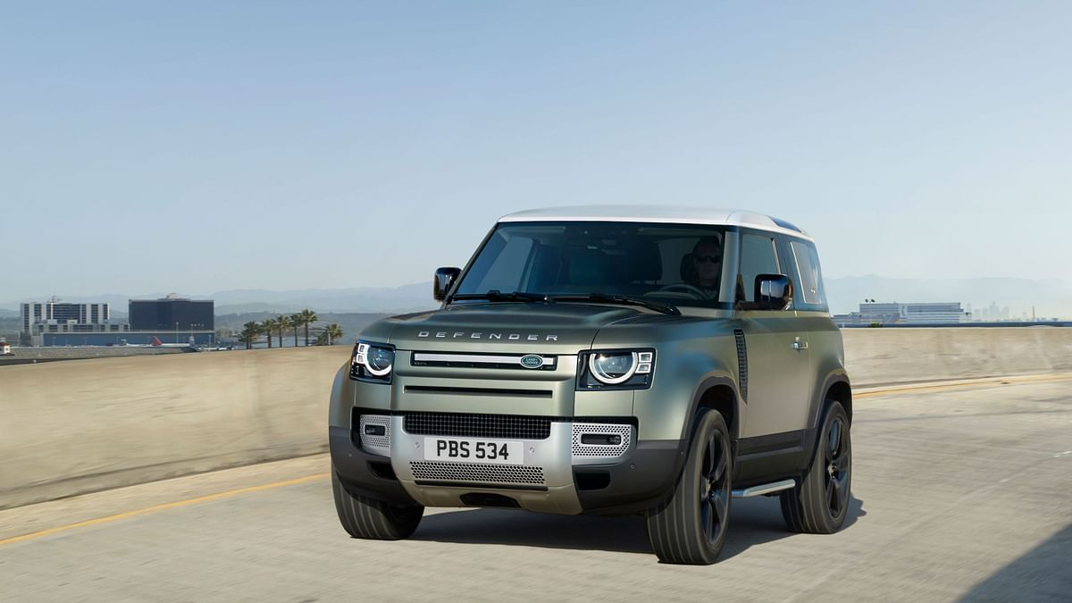 The Land Rover Defender 90 is a three-door, but can seat six with an innovative middle-seat between the front two seats.