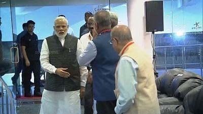 Bengaluru: Prime Minister Narendra Modi arrives at ISRO Centre to witness the landing of India