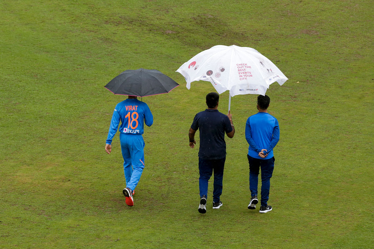 The first T20 International between India and South Africa was abandoned due to rain at Dharamshala.
