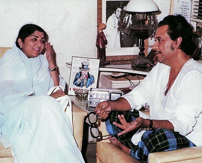 Lata Mangeshkar with Kishore Kumar.