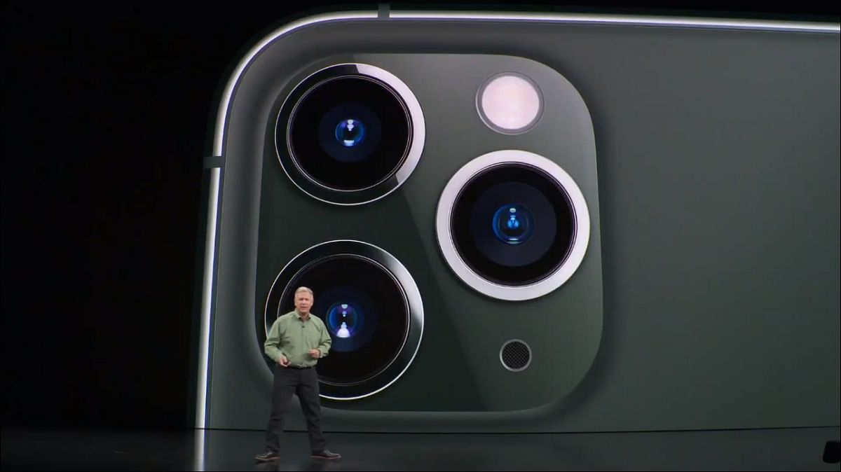 Phil Schiller announcing the iPhone 11 Pro series.