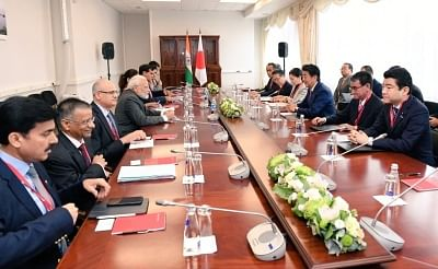 Vladivostok: Prime Minister Narendra Modi during delegation level talks with Japanese Prime Minister Shinzo Abe on the margins of the 5th Eastern Economic Forum in Vladivostok on Sep 5, 2019. (Photo: IANS/MEA)
