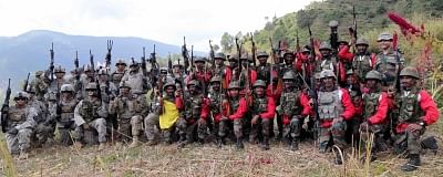 Uttarakhand: Soldiers after completion of Indo-US joint military exercise in Uttarakhand on Sept 27, 2016. (Photo: IANS/DPRO)