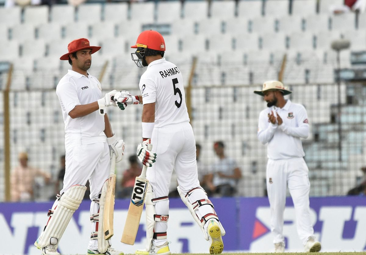 Rahmat's 102 and Asghar Afghan's 88 not out led Afghanistan to 271-5 at stumps in the one-off Test, the visitors' third ever.