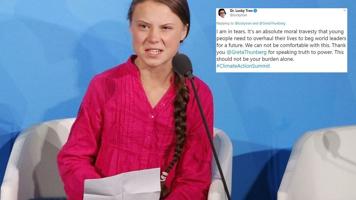 Twitter breaks after Greta Thunberg's speech at UN.
