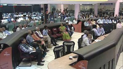 Bengaluru: Scientists at ISRO Centre in Bengaluru on Sep 6, 2019. (Photo: IANS)