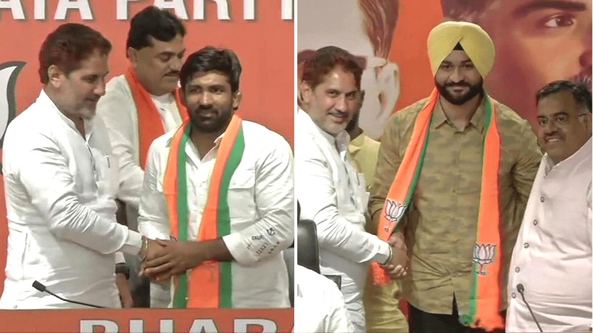 Wrestler Yogeshwar Dutt, Ex-Hockey Captain Sandeep Singh Join BJP