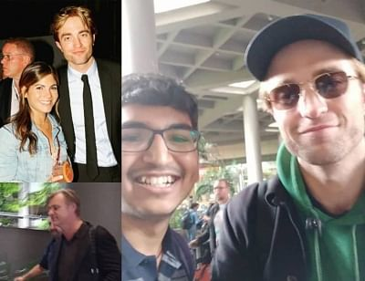 """Iconic Hollywood filmmaker Christopher Nolan and actor Robert Pattinson have arrived in Mumbai to shoot for the much-hyped Hollywood project, """"Tenetâ€Â�. The film also features Bollywood star Dimple Kapadia, besides John David Washington."""