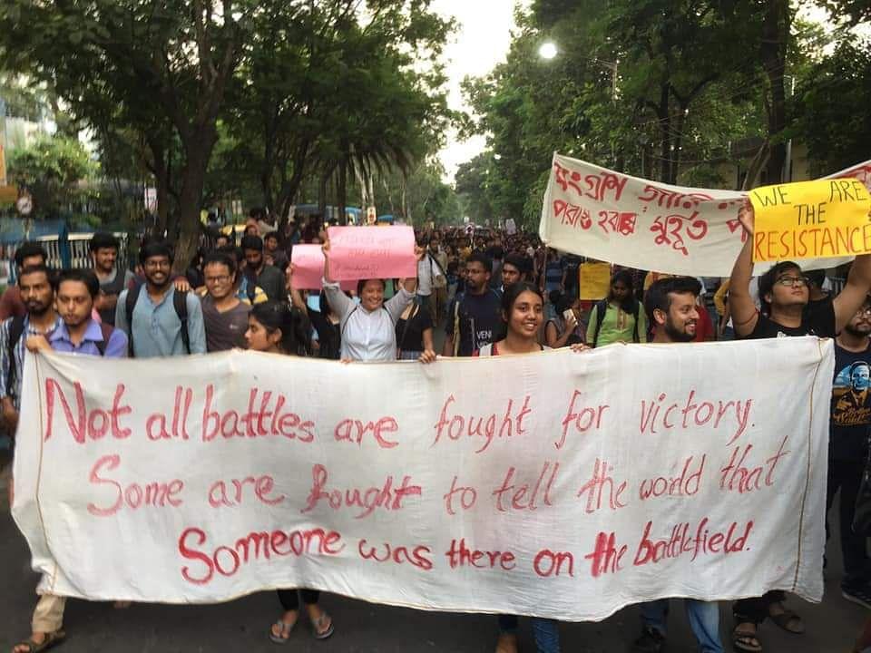 ABVP Ends Demonstration After Failing to Enter Jadavpur University