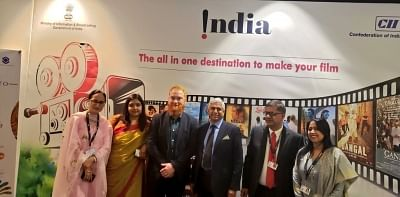 Toronto: High Commissioner of India to Canada, Vikas Swarup at the inauguration of the India Pavilion at the 44th Toronto International Film Festival (TIFF) in Toronto, on Sep 5, 2019. The pavilion will showcase Indian cinema in the overseas market and facilitate new business opportunities. (Photo: Twitter/@HCI_Ottawa)