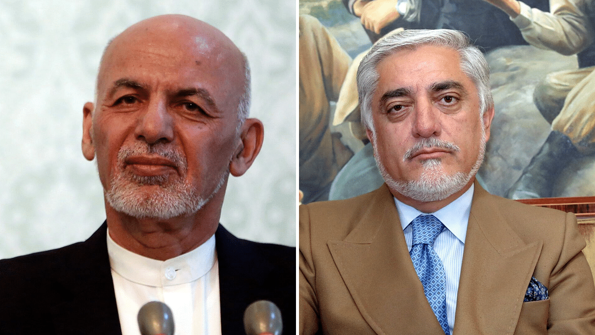 The leading contenders are incumbent President Ashraf Ghani and his partner in the government , Abdullah Abdullah.
