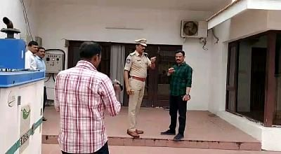 Hyderabad: Police during investigation at the residence of Former Andhra Pradesh Assembly Speaker Kodela Siva Prasada Rao, where he committed suicide, in Hyderabad on Sep 16, 2019. The senior TDP leader was found lying unconscious at his posh Banjara Hills residence at around 11 a.m. by family members. The police has registered a case of death under suspicious circumstances and launched investigations. (Photo: IANS)