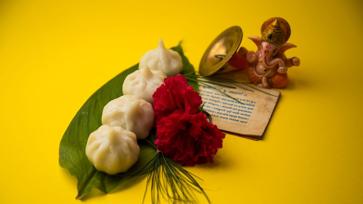 Modaks are offered to Lord Ganesha as bhog.