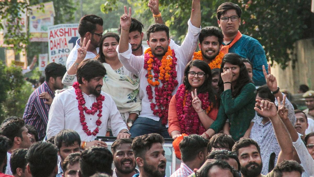 DUSU Polls: ABVP Wins 3 Seats, NSUI Clinches Secy Post Alone