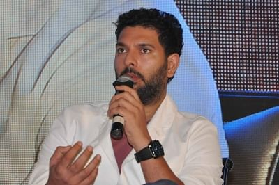Kolkata: Former Indian Cricketer Yuvraj Singh addresses at the 91st Annual General Meeting of the Indian Chamber of Commerce (ICC) in Kolkata, on July 9, 2019. (Photo: Kuntal Chakrabarty/IANS)