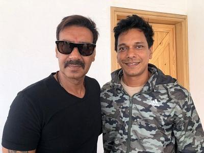 Actors Ajay Devgn and Mahesh Shetty.