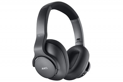 Samsung wireless AKG headphones.
