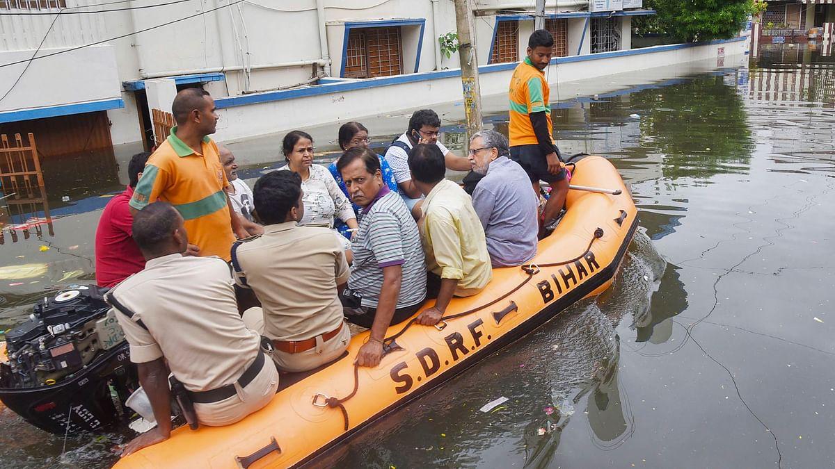 Patna Floods: Bihar Deputy CM Sushil Modi Rescued by NDRF