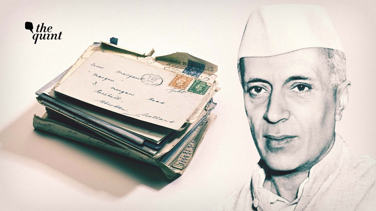 Image of Nehru and letters used for representational purposes.