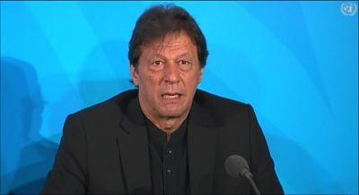 United Nations: Pakistan Prime Minister Imran Khan addresses at the Climate Action Summit 2019 during the 74th session of the UN General Assembly (UNGA 74) at United Nations on Sep 23, 2019. (Photo: IANS/United Nations)