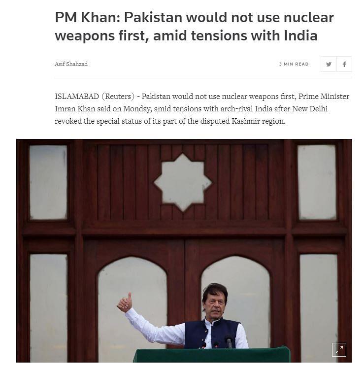 Screen grab of Reuters' report.