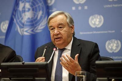 UN Secretary-General Antonio Guterres. (Xinhua/Li Muzi/IANS)