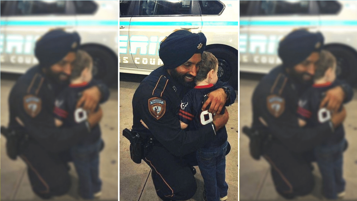 Sandeep Singh Dhaliwal (L) was shot while conducting a traffic stop.