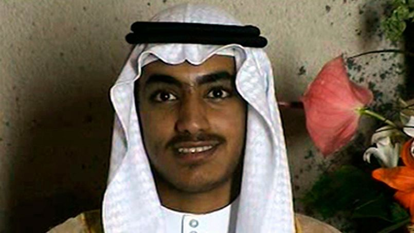 In this image from a video released by the CIA, Hamza bin Laden, the son of of the late al-Qaida leader Osama bin Laden, is seen as an adult at his wedding.
