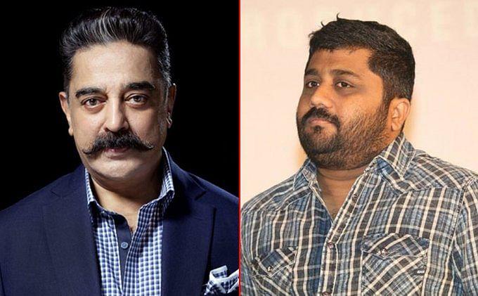 Kamal Haasan (L), KE Gnanavel Raja (R)
